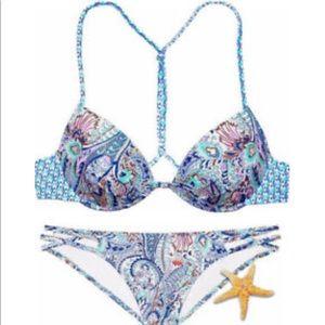 Victoria's Secret Fabulous Paisley Push Up Bikini